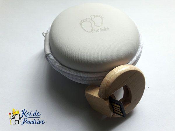 Kit Pendrive Kraft Bebês de 4  GB - Pendrives Para Fotógrafos