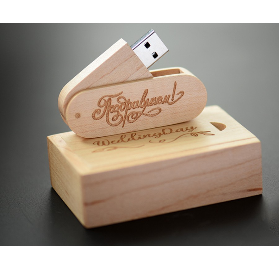 Kit Pendrive Wood Life 8 GB e 16 GB Personalizado