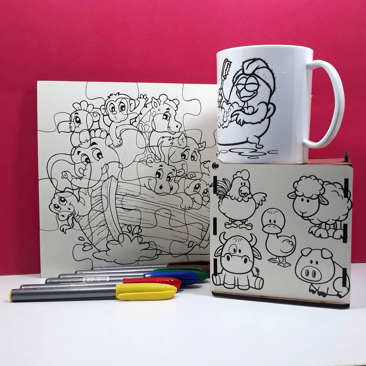 Kit Pintar Criativo – Colorindo a vida com Caneta – KITPC-013
