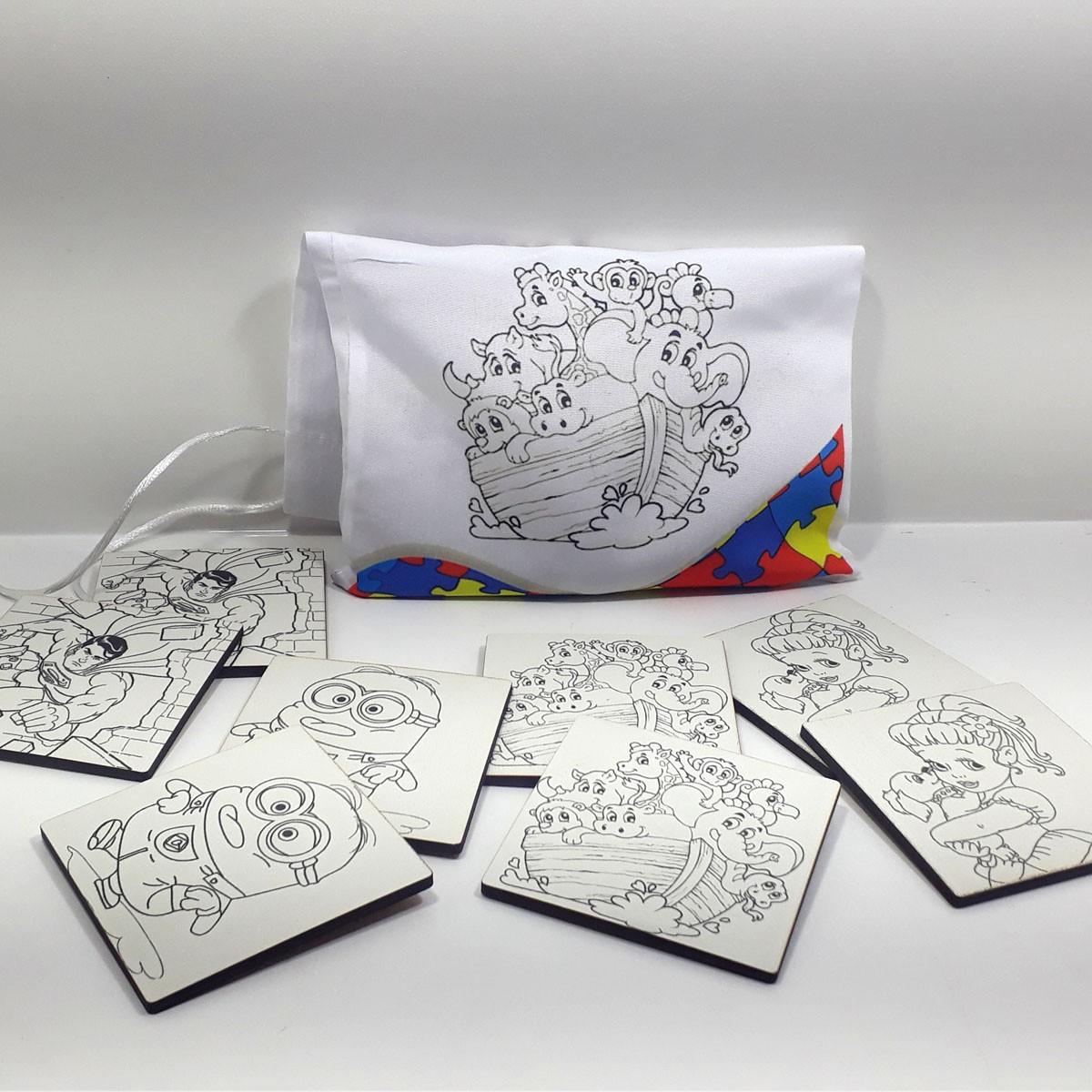 Kit Pintar Criativo – Jogo da Memória para Colorir com Caneta – KITPC-018
