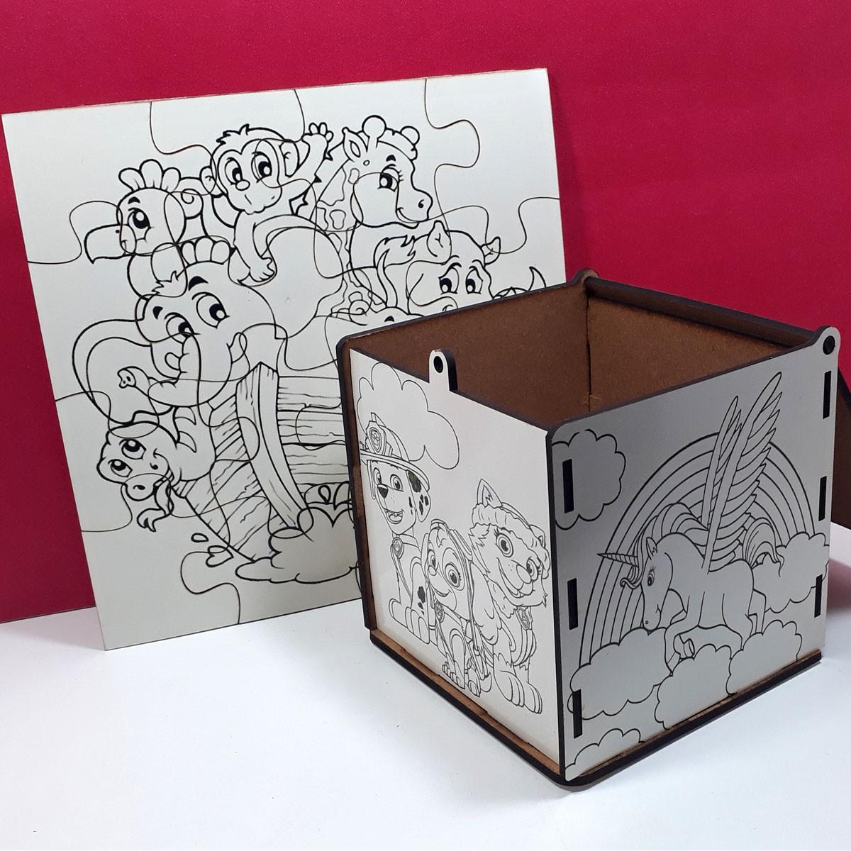 Kit Pintar Criativo – Pintando peças com Caneta – KITPC-015