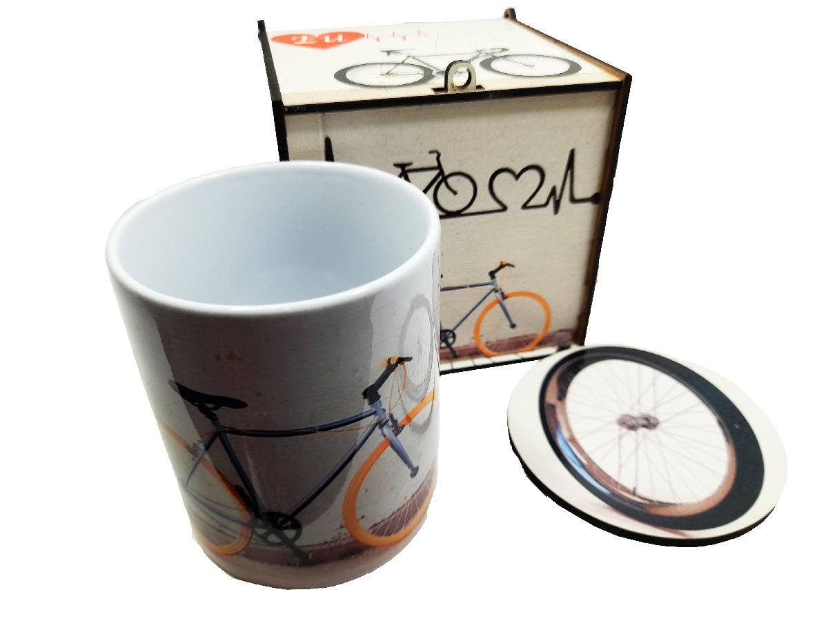 Kit Presente Ciclistas Minha Magrela com caneca e caixa presente