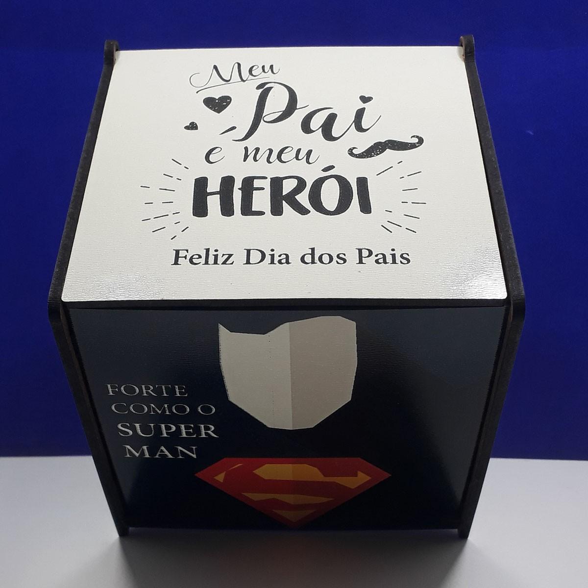 Kit Presente Dia dos Pais - Meu pai é meu herói