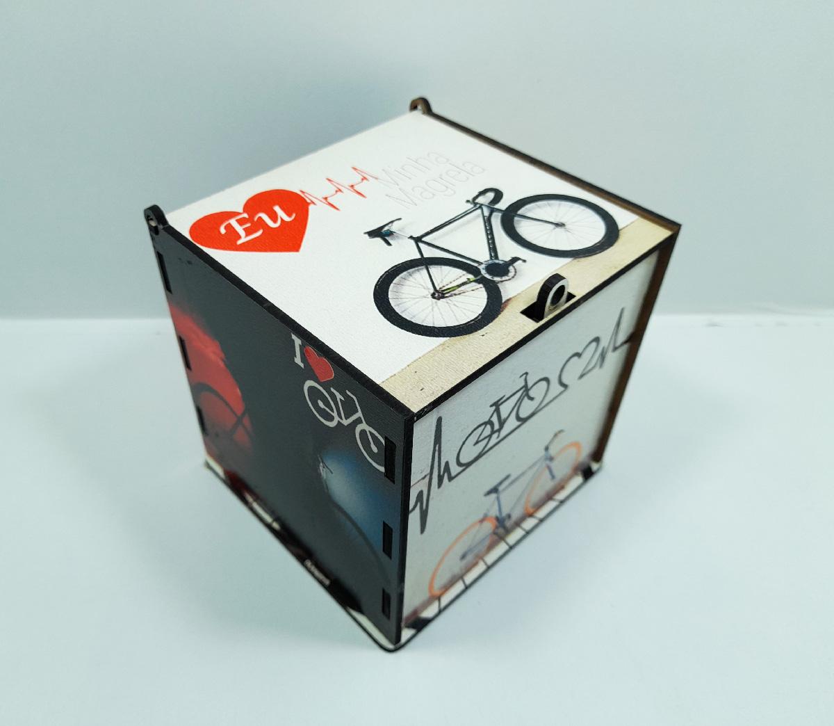 Kit Presente para Ciclistas caixa Art Bike personalizada + Chaveiro