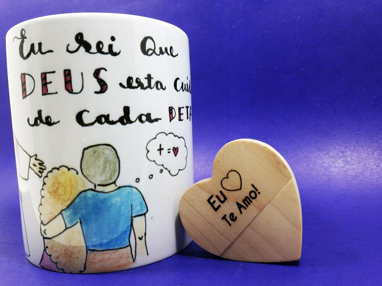 Kit Presente para Namorados Cristãos e Religiosos - Namoro Santo