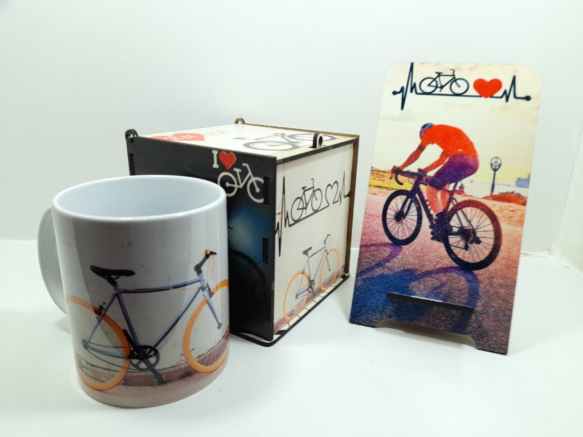 Kit Presente para Pai Ciclista Kit Art Bike Exclusivo
