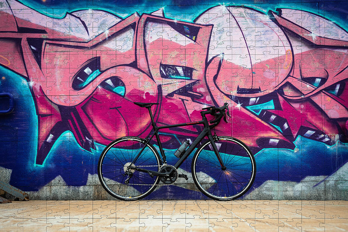 Kit Quebra-Cabeça Bicicletas cognitivo para idosos 60 peças