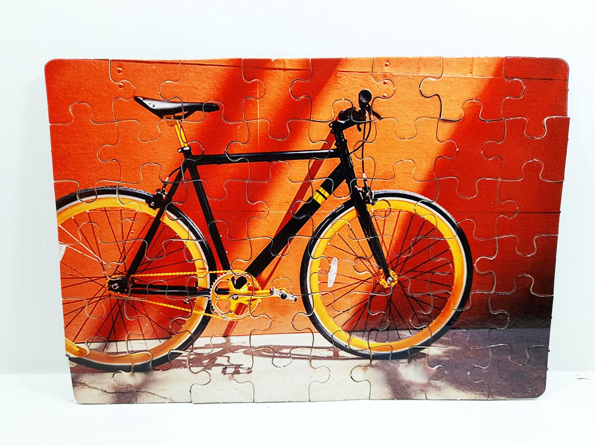 Kit Quebra-Cabeça Bicicletas Reabilitação cognitiva para idosos 24 peças