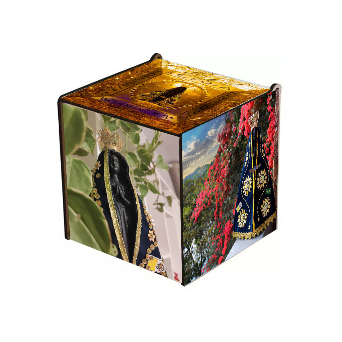 Kit Quebra-Cabeças Religiosos de 165 peças com caixa de MDF Exclusiva + Terço Especial