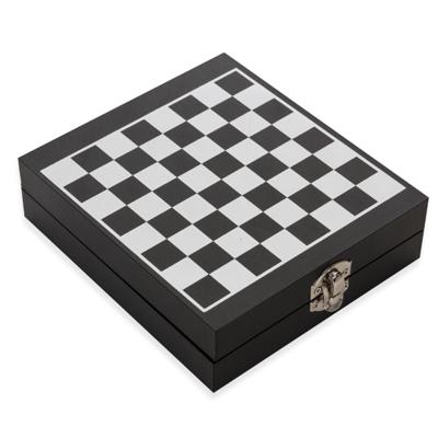 Kit Vinho Xadrez 4 peças  - Cod 12046 - 15 Peças