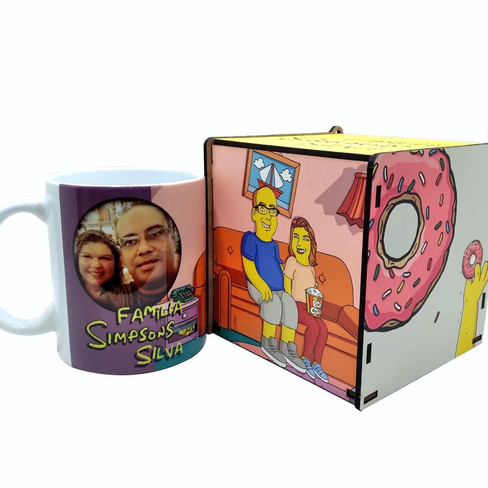 Kit Você Amarelo Simpsons - Caixa de MDF e caneca personalizada
