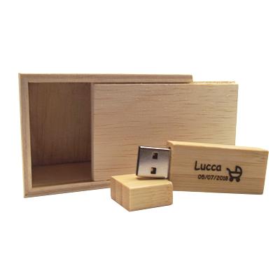 Kit Wood Baby - Pendrives para fotógrafos - 4GB, 8GB e 16GB