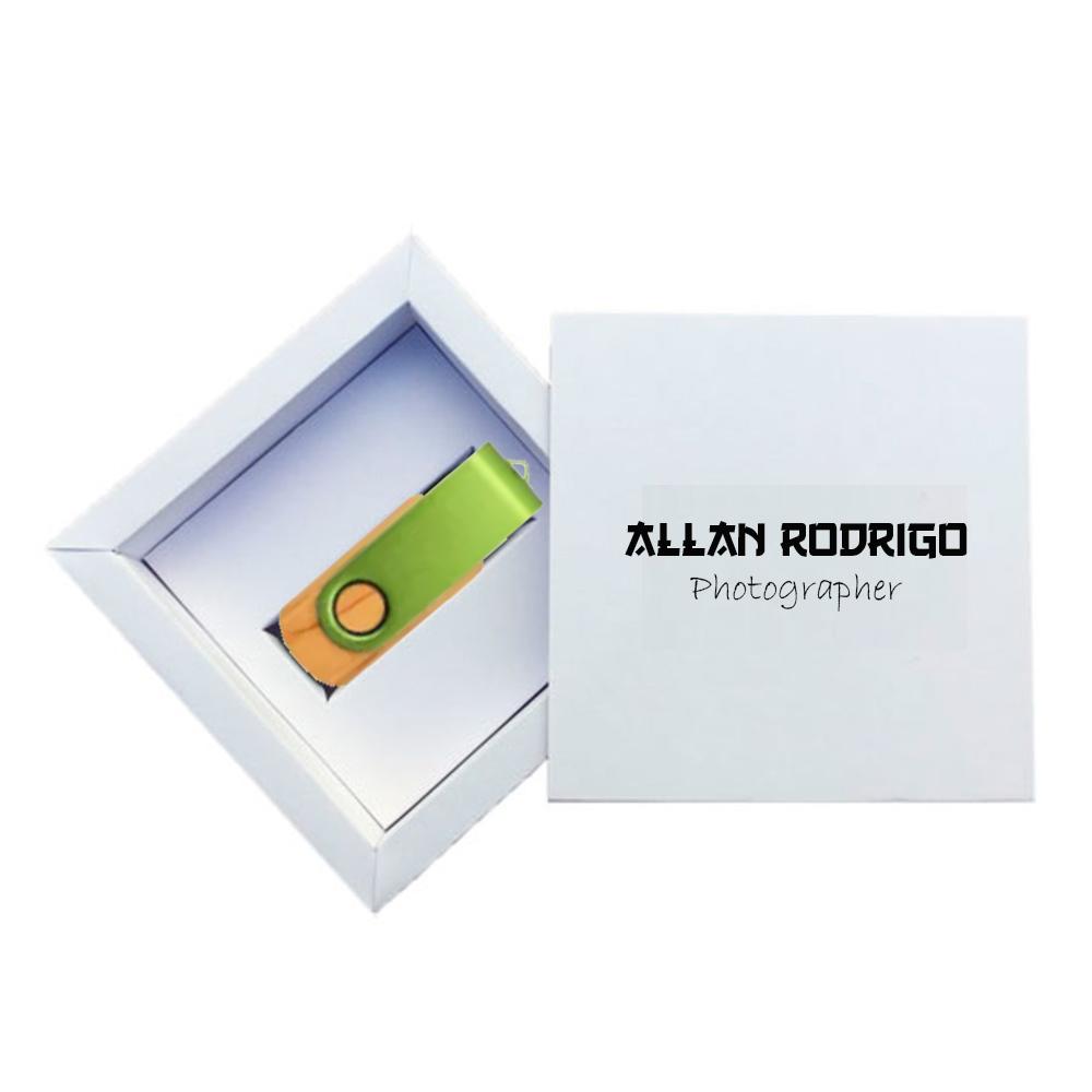 Kit Wooden Colors White  8 GB - Pendrives para Fotógrafos Personalizados