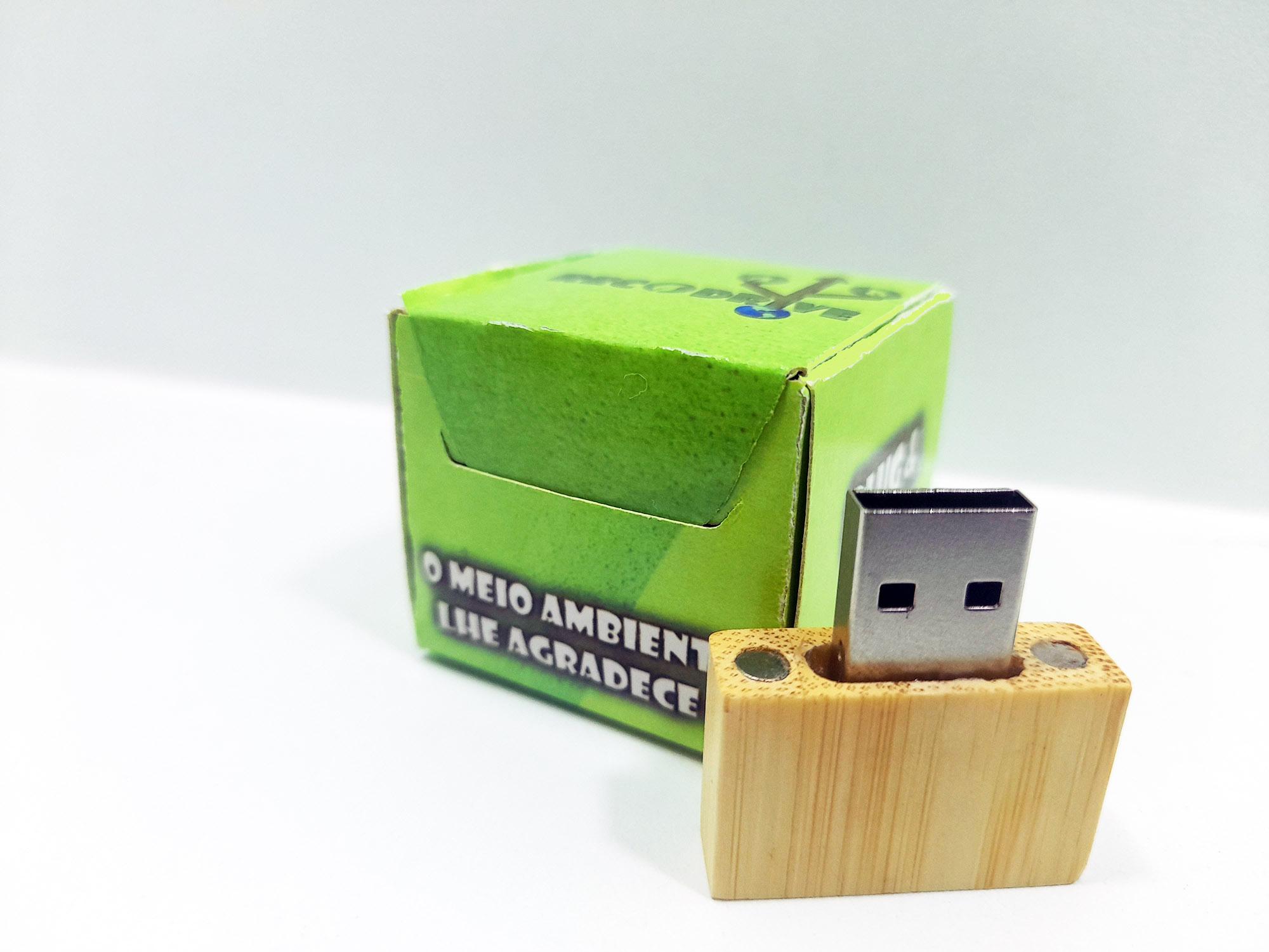 Linha rECOdrive - Pendrives Ecologicos Sustentáveis - Fit Classic 8 GB e 16 GB - Exclusivo