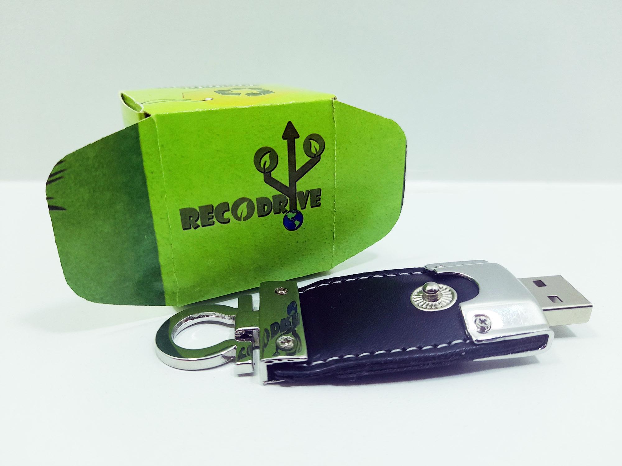 Linha rECOdrive - Pendrives Ecologicos Sustentáveis - Fit Elegance 8 GB e 16 GB - Exclusivo
