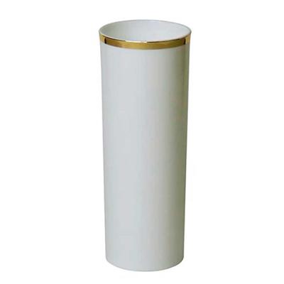 Long Drink Branco Com Borda Dourada
