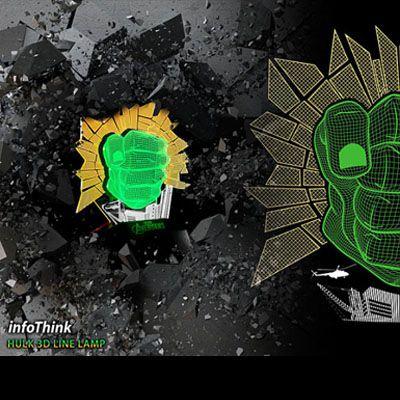 Luminaria Hulk  - Original Infothink