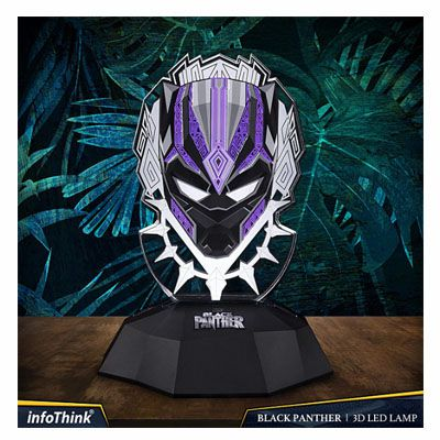 Luminária personalizada Pantera Negra - Original Infothink