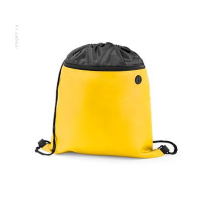 Mochila de Nylon com Bolso Frontal e saída para Fone de Ouvido  –  35x40cm
