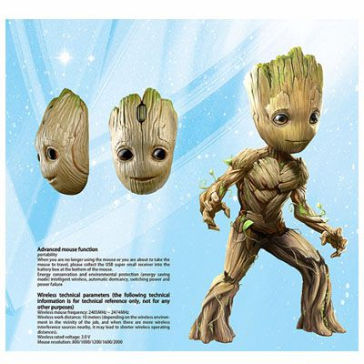 Mouse Baby Groot - Guardião das galaxias
