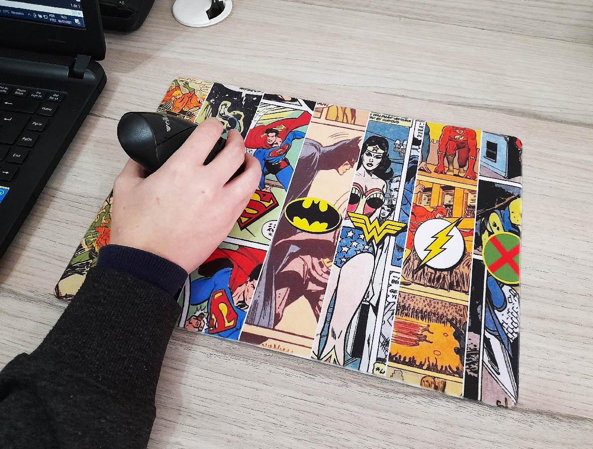 Mouse Pad Gamer Nerd Quadrinhos  25 x 35 cm Personalizado