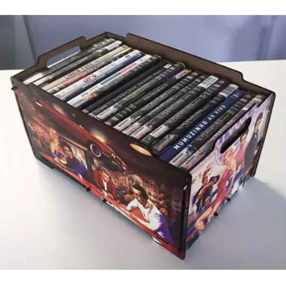 Organizador para DVDs em MDF - CXMDF-026