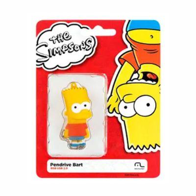 Pen Drive Bart Simpsons 8GB USB Multilaser - PD071 30 e 50 peças