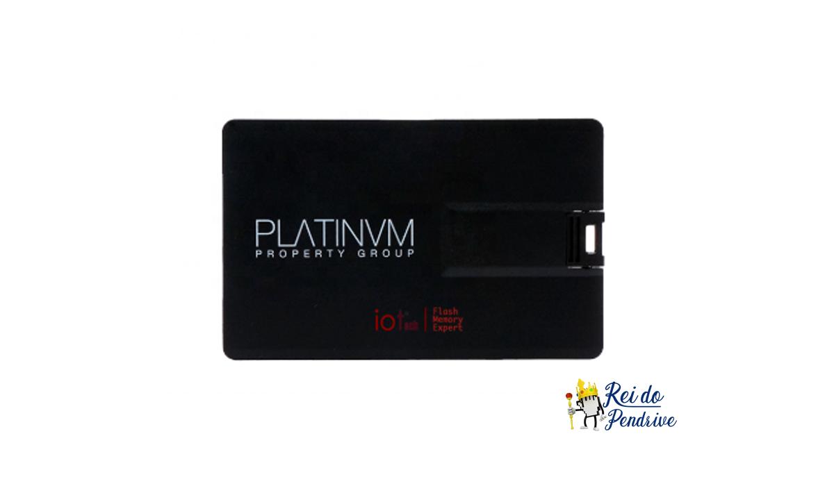 Pen drive Cartão Preto 8 GB para personalizar (pencard)  - 1 unidade