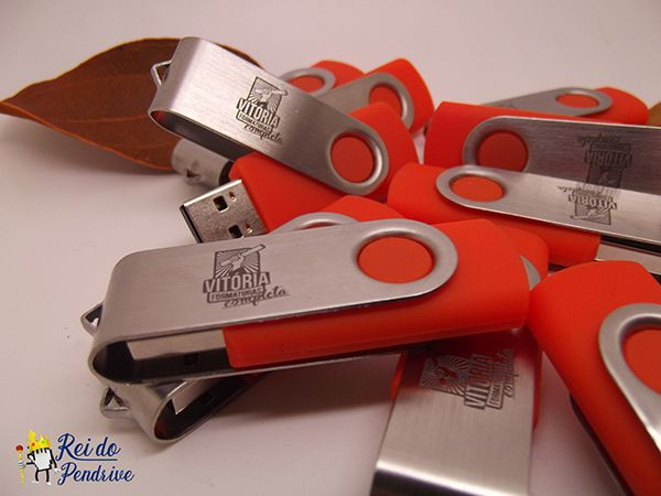 Pen drive Classic Laser + Caneca Brinde - Pendrive para Fotógrafos - 4 GB, 8 GB