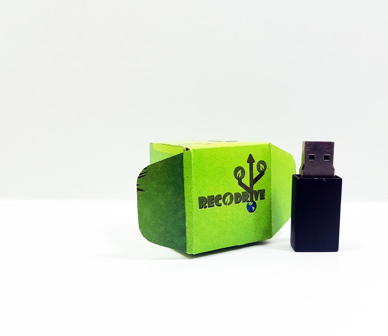 Pen drive Ecológico Fit Colors Black 8 GB - Linha rECOdrive