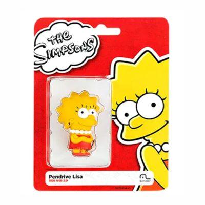 Pen Drive Lisa Simpsons 8GB USB Multilaser - PD072 30 e 50 peças