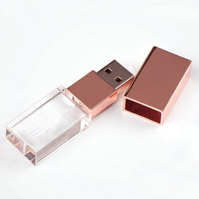 Pen Drive Rose Cristal De 16 Gb - Pronta Entrega