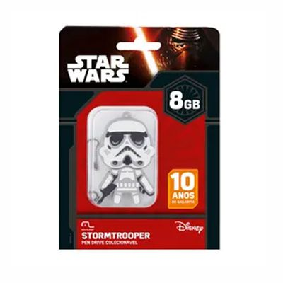 Pen Drive Stormtrooper 8GB USB Multilaser - PD039 30 e 50 peças