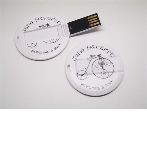 Pencard Redondo - Pendrive para Fotógrafos - 4 GB, 8 GB e 16 GB