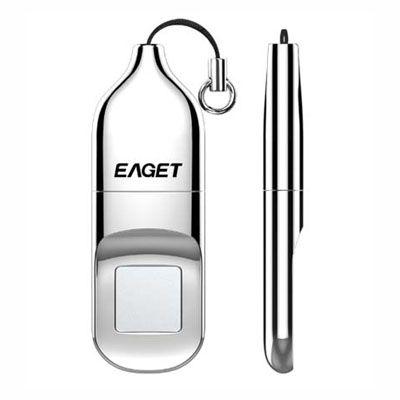 Pendrive Biométrico EAGET Fingerprint De 32 GB E 64 GB