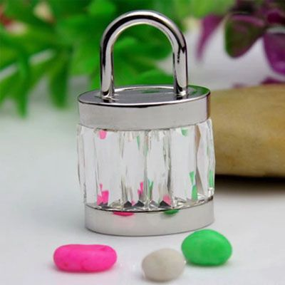 Pendrive cadeado cristal - CD03 - Pendrive Personalizado - 8, 16, 32 GB