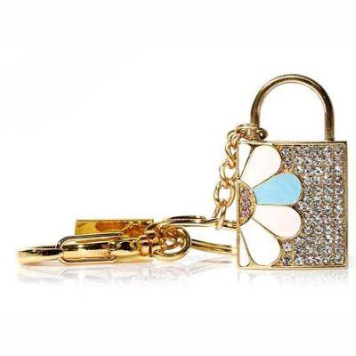 Pendrive cadeado jóia flores - CD01-  Pendrive Personalizado - 8, 16, 32 GB