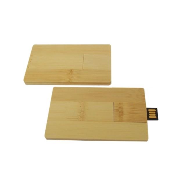 Pendrive Cartão de madeira (bambu) - 8 GB