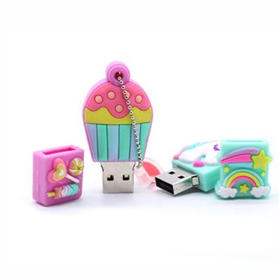 Pendrive cartoon unicornio - Pendrive Personalizado - 8, 16 E 32 GB