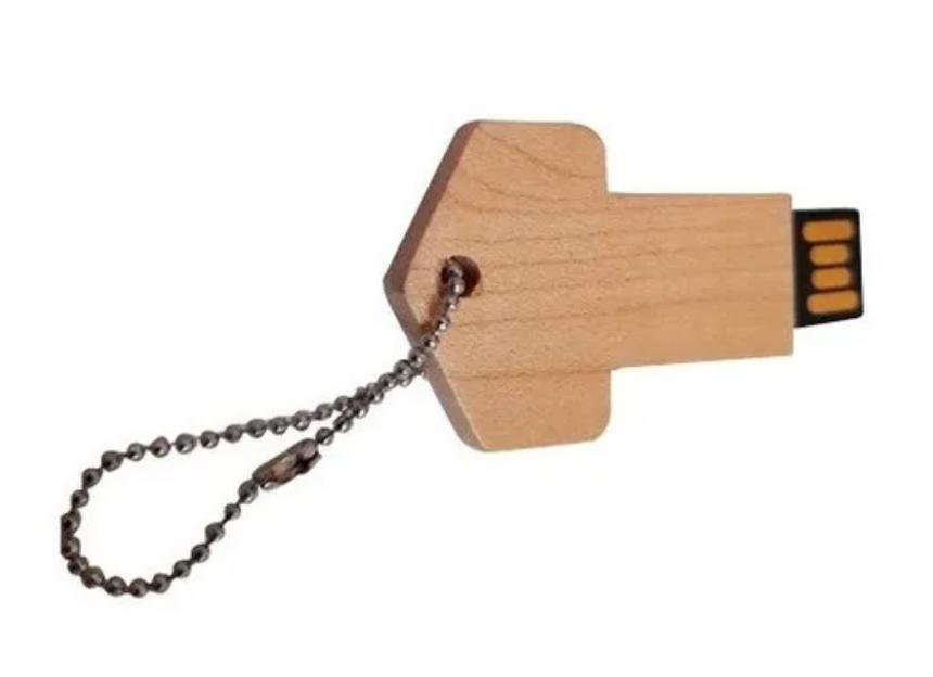 Pendrive Chave de madeira de 4 GB