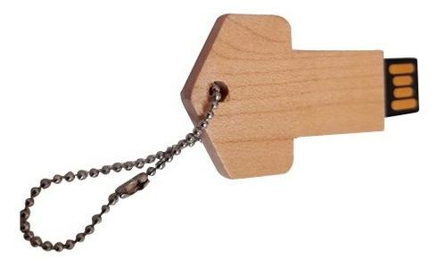Pendrive Chave de madeira de 8 GB - 31 peças - Ponta de Estoque