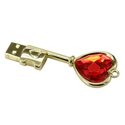 Pendrive chave do coração  - Pendrive Personalizado - 8, 16, 32 GB