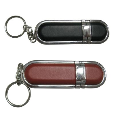 Pendrive chaveiro couro C102 - 4 GB, 8 GB e 16 GB