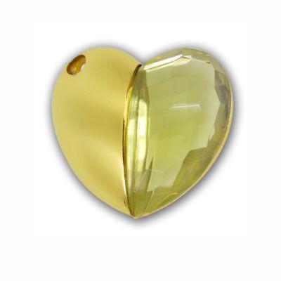 Pendrive Coração De Diamante - HT07 - Pendrive Personalizado - 8, 16 E 32 GB