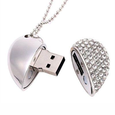 Pendrive Coração strass - HT08 -  Pendrive Personalizado - 8, 16 E 32 GB