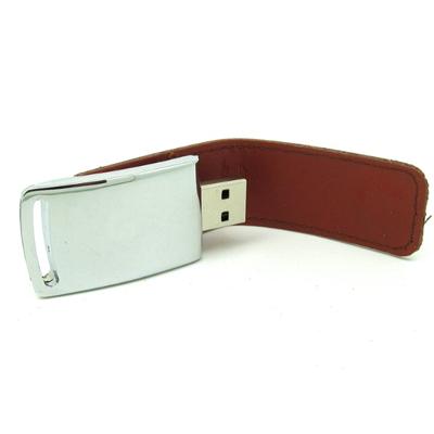 Pendrive Couro cromado personalizado modelo C203 - 4 GB, 8GB e 16 GB