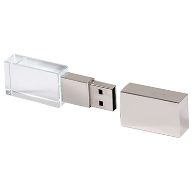 Pendrive Cristal Prata - Pendrive para Fotógrafos - 8 GB