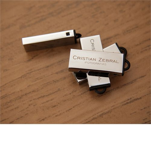 Pendrive Cromado Classic - 4 GB, 8 GB e 16 GB USB 2.0