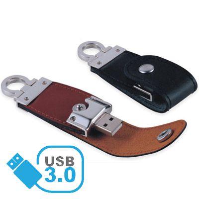 Pendrive de couro C184 USB 3.0 - Super Speed -  8 GB, 16GB e 32GB