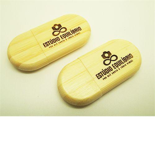 Pendrive de madeira (bambu) MM305 - 4 GB, 8GB e 16 GB